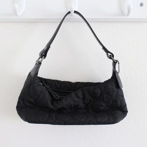 Small Black Coach Quilted Purse